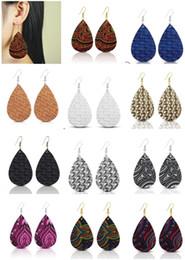 $enCountryForm.capitalKeyWord Australia - 2019 New Spring Summer Fashion Boho Jewelry Candy Color Leather Teardrop Dangle Earrings for Women Pu Leather Bohemian Earrings