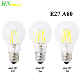 vintage outdoor lamps 2019 - HaoXin E27 AC 220V LED Filament Dimmable Bulb A60 Retro Vintage Glass Bombillas Edison Lamp Candle Light Chandelier chea