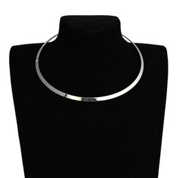 Torques Gold 18k Australia - Sliver Gold Necklace Metal round Statement Punk style torques necklace jewelry Valentine's Day lover gift for women girl
