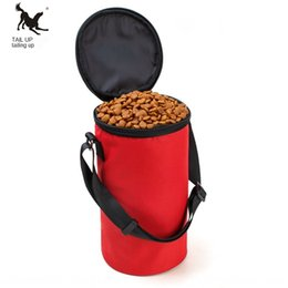 pet stores UK - Pet cat bag with top cover teddy dog food snack bowl bucket pet style Dog and cat food bag can be stored and portable