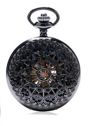 High End Mechanical Watches UK - New high-end mechanical pocket watch big gun color spider web mechanical watch pocket watch hanging table retro explosion birthday gift