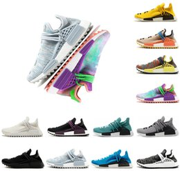 $enCountryForm.capitalKeyWord Australia - Designer Human Race Pharrell Williams Mens Women Running Shoes Bbc Black Nerd Nobel Ink Pale Nude Cream Equality Trainers Sports Sneakers