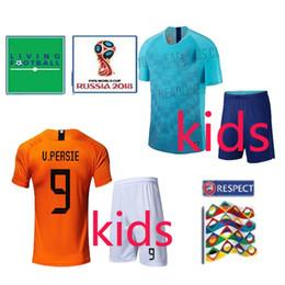 4aa308365 2018 World Cup netherlands home robben kids soccer jersey 18 19 netherlands national  team blue child kit  9 V.PERSIE Dutch football shirts