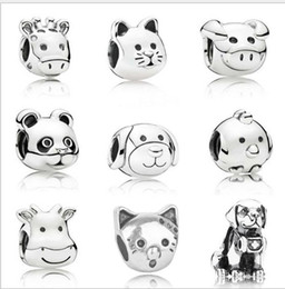 $enCountryForm.capitalKeyWord Australia - New 20pcs Chicken Cat Shepherd Dog Sheep Horse kitty Silver Charms Bead Pendant Beads Fit European Charm Pandora Bracelet Jewelry DIY Xmas