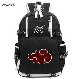Wholesale nude cosplay resale online - New Arrival Cartoon Naruto Backpack Anime Akatsuki Sharingan Printing Cosplay School Backpacks Laptop Shoulder Bags Y19061102