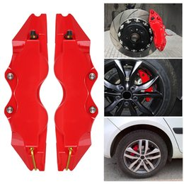 Free shipping 2pcs set Brake Caliper Cover Front And Rear With 3D Word Car Auto Style Disc cubierta de pinza de freno on Sale
