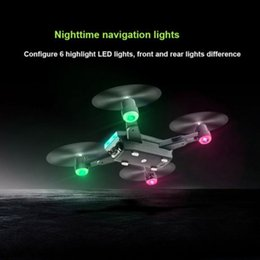 camera mini motor UK - LH-X28GWF Mini Wifi Control Distance GPS FPV 4-Axis RC Drone with 720P 1080P HD Camera LED Light One Key Return Batteries