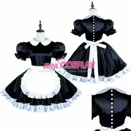 tailor made costumes Australia - Satin sissy maid dress with uniform Tailor-made :Free shipping