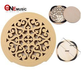 Discount carved guitars - Carved Wooden Acoustic Guitar Sound Hole Cover Antilarsen Exclusive 41Inch Guitar Sound Hole Block Guitar Accessories