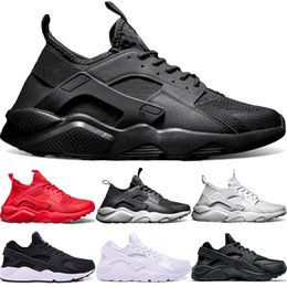 Discount best quality boots - Best seller Huarache Ultra fashion 4.0 1.0 Triple high quality shoes Core Black Red Huaraches men women running enthusia