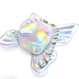 black angel wings girls Australia - Fashion Butterfly Angel Wings Daypack Bags for Girls Cute Gift Bags Womens Holographic Backpacks School 2019 New