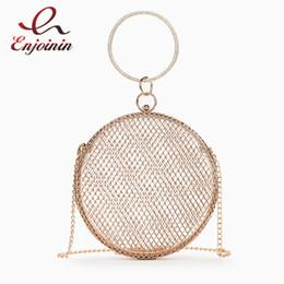 $enCountryForm.capitalKeyWord Australia - Trendy Metal Openwork Diamond Ring Handle Women Party Clutch Bag Handbag Shoulder Bag Chain Purse Ladies Pouch Crossbody