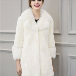 Ladies sexy Long sweaters online shopping - Vintage autumn winter ladies thick warm blusa tricot sexy women s knitting sweater female long sleeve faux fur cardigan S819 SH190930