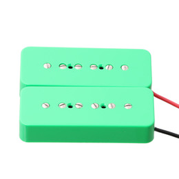 guitar electric fender UK - 2pcs Green Electric Guitar Bridge&Neck Pickup For Soap Bar Pickup 50mm+52mm