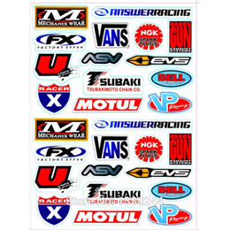 AkrApovic motorcycle online shopping - 2PCS A4 Size Akrapovic Aral HRC Glossy Film Stickers For Motorcycle BIKE CAR UNIT SCOOTER FUNNY DECALS Waterproof PVC