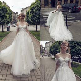 $enCountryForm.capitalKeyWord NZ - Riki Dalal Bohemian Wedding Dresses Off The Shoulder A Line Lace Appliques Boho Wedding Dress Custom Made Sweep Train Beach Bridal Gowns