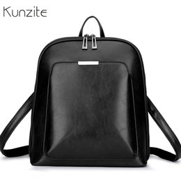 $enCountryForm.capitalKeyWord Australia - Vintage Women Backpack School Bags For Teenage Girls Shoulder Bag Female Oil Wax Leather Backpacks Mochilas Mujer 2018 Bagpack Y190627