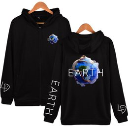 $enCountryForm.capitalKeyWord Australia - 2019 Rapper LIL DICKY NEW Song NEW Album earth Print Zipper Hoodies Sweatshirt Cute Women men Fashion Hoodies Zippers