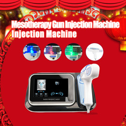 Discount portable needle mesotherapy - RF Portable No Needle Fractional Free Mesotherapy Gun Meso Machine Wrinkle Removal Water Injection Skin Rejuvenation Sal