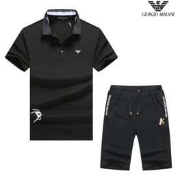 $enCountryForm.capitalKeyWord Australia - Leisure New Pattern Man Tracksuit Lapel And Short Sleeve 14t Motion Trousers Korean Edition Embroidery 2019 Sports Suit