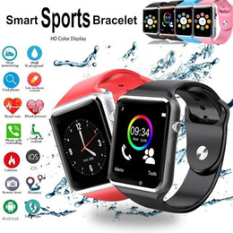 bluetooth smart watch sim Australia - A1 Bluetooth Smart Watch Sports Smart Watches Support SIM   TF Card With Camera For iPhon Samsung huawei Android Phone