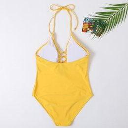 gold mum UK - New Beachwear Mum and Me Swimwear One Piece Gold Pearl Monokini Yellow Swimsuit for Girl and Women Family Swimsuit