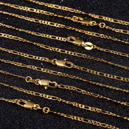 Figaro Chains Australia - 2mm Gold Figaro Chain Necklaces for Men Women 3:1 Flat Design Figaro Jewelry Fashion DIY Accesories Gifts 16 18-30 Inches