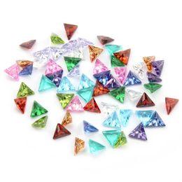 $enCountryForm.capitalKeyWord Australia - 12pcs lot Wholesale Crystal Triangle Zircon Birthstone Floating Locket Charms Fit Glass Locket, Accept Customization LSFC481