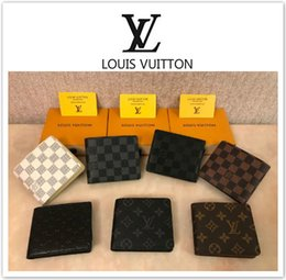 Wholesale Mens new L bag billfold High quality Plaid pattern women wallet men pures high end luxury s designer L wallet with box