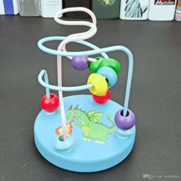 Cadeau Bby Fabricants direct dessin en bois modèle commencent petit autour de perle enfants jouets éducatifs enfance en gros