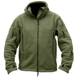 Wholesale men military style winter coat for sale – winter Military Man Woman Fleece Coats and Jackets Safari Military Style Tactical Man Overcoats Winter Thick Warm Outerwear Mens A274