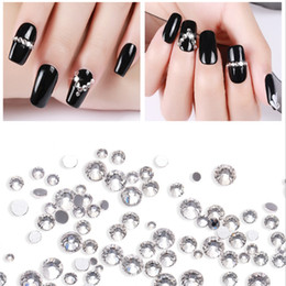 $enCountryForm.capitalKeyWord Australia - Nail Art Rhinestone Crystal Mixed Round Clear Color Flat Back High Quality Different Sizes Shiny Hot Fix Glue On For Nails