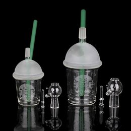 $enCountryForm.capitalKeyWord Australia - Free Shipping Starbuck Cup Water Original Opaque Bright Green Dab Concentrate Oil Rig Glass Bong Glass Dome and Nail Hookah Glass Water Pipe