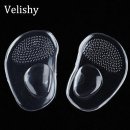 Discount shoe padding for heels - Velishy gel silicone forefoot pad pads insoles inserts massager anti-slip for high heels woman shoes sandals shoes acces