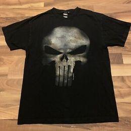 e40b6dc2ec493a Vintage Graphic T Shirts Australia - Marvel Punisher Shirt Skull Symbol  Mens Graphic T Shirt Black