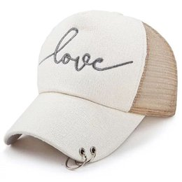 $enCountryForm.capitalKeyWord UK - European and American Fashion Net Hat Street Men and Women's Baseball Cap Outdoor Sports Sun Hat Letters EmbroideryStyle