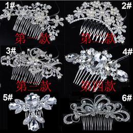 $enCountryForm.capitalKeyWord Australia - Bridal Wedding Tiaras Stunning Fine Comb Bridal Jewelry Accessories Crystal Pearl Hair Brush utterfly hairpin for bride