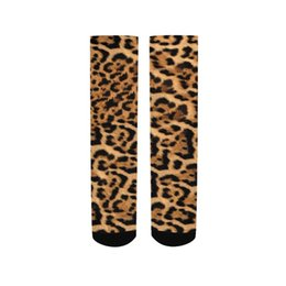 comb printing NZ - Sexy Leopard Print Combed Cotton Men's Socks Harajuku Colorful Happy Funny Long Warm Dress Socks For Male Wedding Christmas Gift