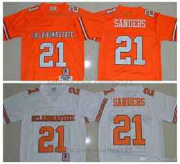 OklahOma state jersey online shopping - 1986 Oklahoma State Barry Sanders Jersey Retro Orange Stitched Men Barry Sanders College Football Jerseys University Football Shirts