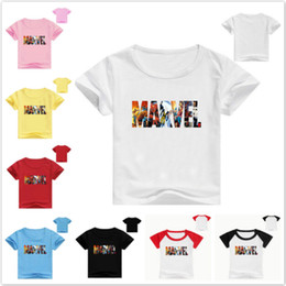 $enCountryForm.capitalKeyWord Australia - Summer Baby Boys Clothes Cotton Short Sleeve T-Shirts Children Cartoon Marvel Comics Printed Baby Girls Kids Clothes Tops Tees