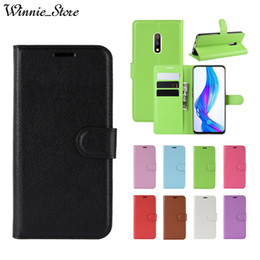 oppo wallet Australia - For OPPO Realme X Lite Realme C2 Realme3 Pro Realme 2 Realme1 PU Leather Wallet Smart Phone Case with Credit Card Stand Coque
