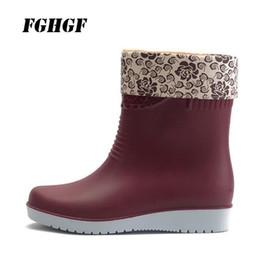 2019 men rubber rain boots fashion black chelsea boots