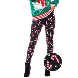 deer leggings Australia - Designer Women Christmas Leggings Snow Spark Santas Claus Christmas Tree Deer Printed 3D Leggings Tights