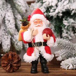 christmas tables NZ - Resin Santa Claus Doll Christmas santa claus doll Holiday Figurine Collection Christmas Ornament Gift Table Decoration
