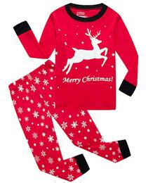 Suit Snowflake online shopping - Retail boys girls Christmas outfits suit set snowflake printed tshirt pant kids designer tracksuits girls clothing sets