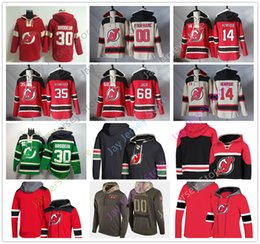 Custom New Jersey Devils Hoodies Brian Boyle Andy Greene Taylor Hall Nico  Hischier Kyle Palmieri Travis Zajac Martin Brodeur Ken Daneyko 460518060