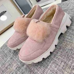 $enCountryForm.capitalKeyWord Australia - Brand Women cow leather Winter Snow Boots Fashion Australia Fur TPU Loafer Flat Sheepkin Suede wool Warm Tassel Ankle Martin Boots,35-40