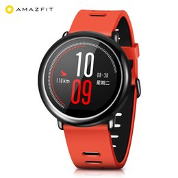 $enCountryForm.capitalKeyWord NZ - Original Xiaomi Huami AMAZFIT Bluetooth 4.0 Heart Rate Monitor Sports Smart Watch GPS Real-time Track Wristband