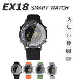 Bluetooth Smart Watch Sim Australia - SIM Card Facebook Instagram EX18 Smart Watch Sports Pedometer Smartwatch Bluetooth Phone Push Message Wristwatch IP67 Waterproof