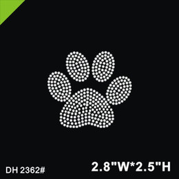 0097d13d Free shipping lot Bear's paw print design hot fix rhinestone Heat transfer  design iron on motifs Scrapbooking diy accessories DH2362#